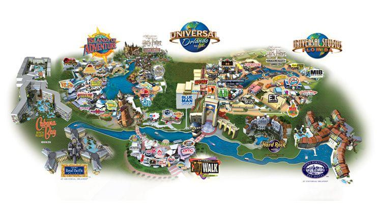 Universals Islands of Adventure Map  Honeymoon  Pinterest