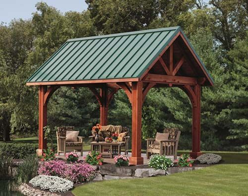 Rustic pavilion plans alpine treated wood for Rustic gazebo kits