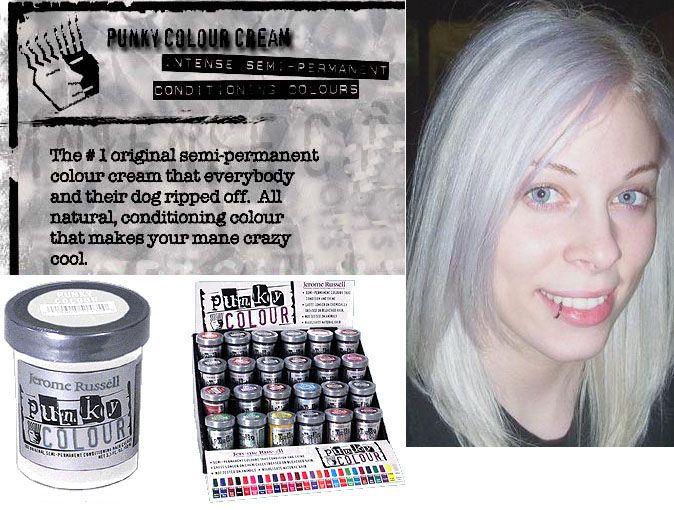 Platinum Toner Semi Permanent Cream Dye By Punky Colour Hair Dye