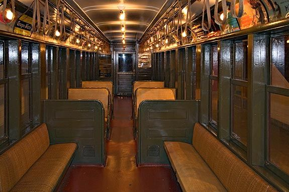 1904 New YorK City subway car interior