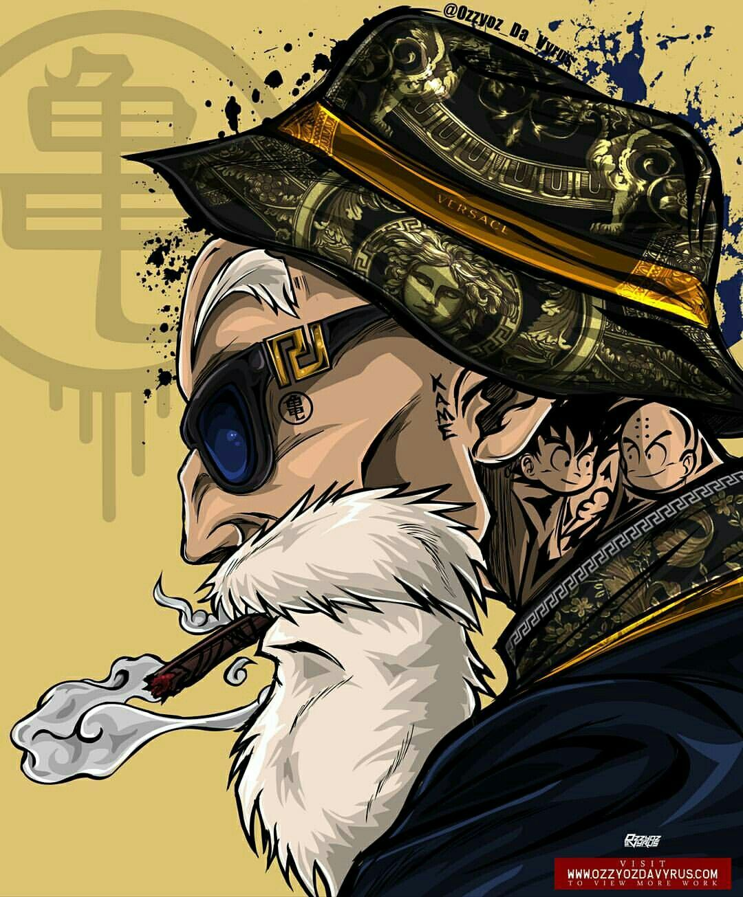 Master Roshi Cool Wallpaper Mobile Wallpaper Iphone Wallpaper Phone Backgrounds Dope Art