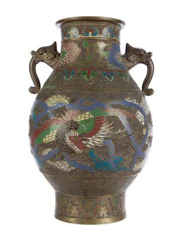 Chinese Champleve Vase Design Pinterest