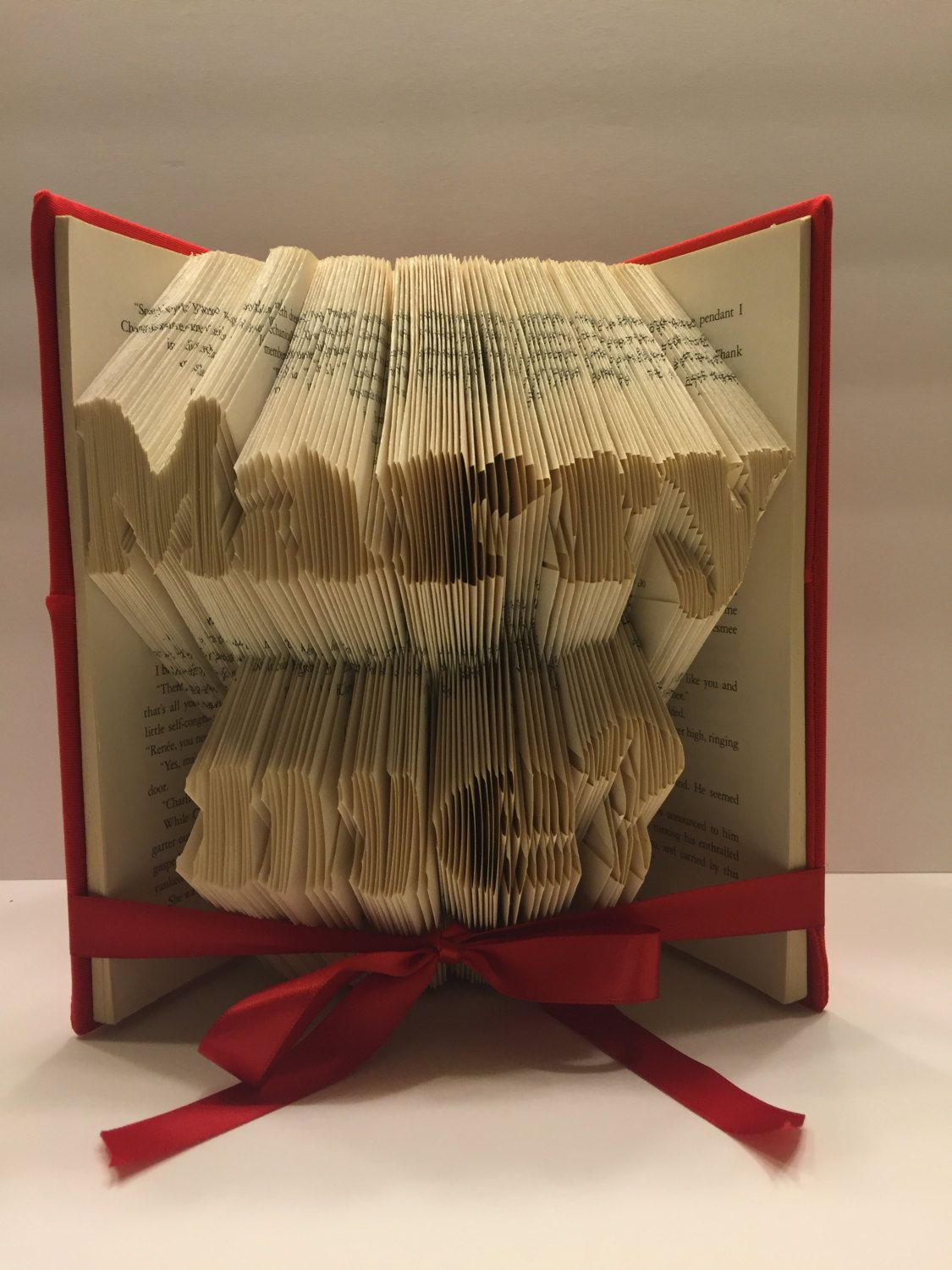 Finished Book Fold Surprise Engagement Wedding Proposal Christmas Present New Year Eve Personalized