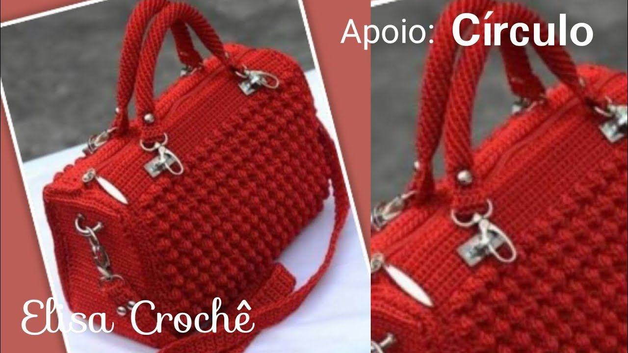 versión para diestros: bolso elegante en crochet (parte 1) # Elisa Crochet