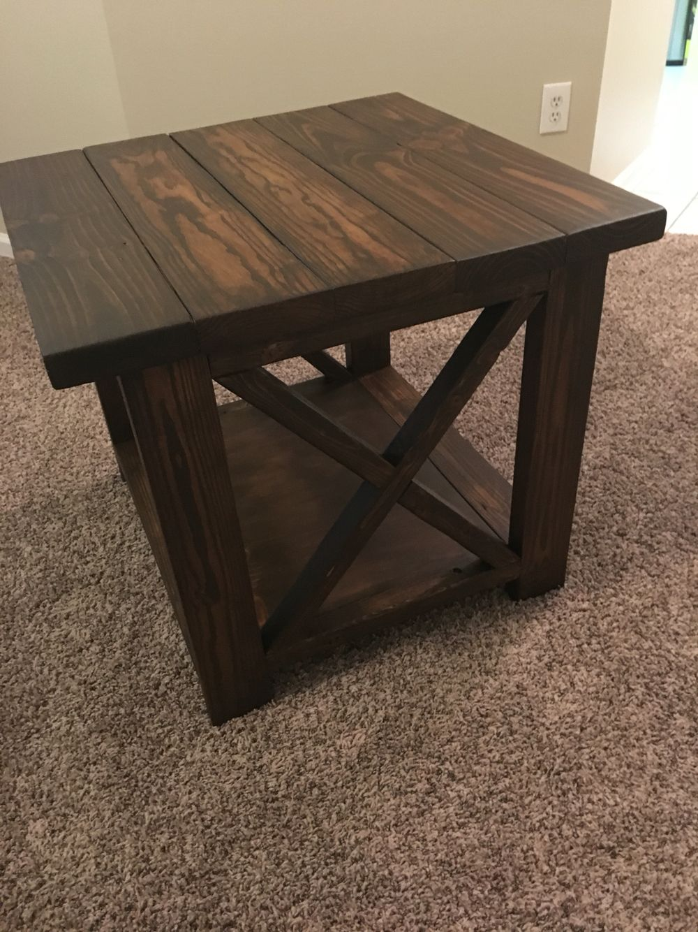 Adam did an amazing job on our end table!!! Diy end