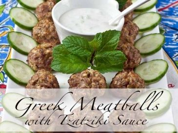 Greek Meatballs with Tzatziki Sauce super simple and delicious kid appreoved recipe 365x274 Greek Meatballs