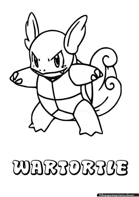 Dibujos de Pokemon para Imprimir y Colorear | wartortle | Pinterest ...