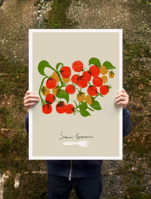 Cherry Tomatoes Poster print