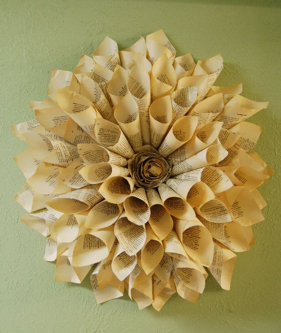 DIY wall decoration using paper. This would look cool in my ...