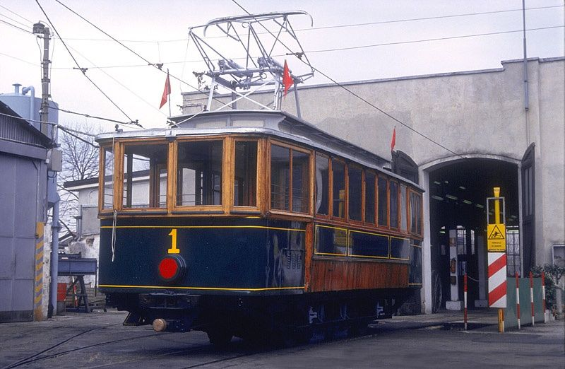 Tram No 1 of the Trieste to Villa Opicina Tramway