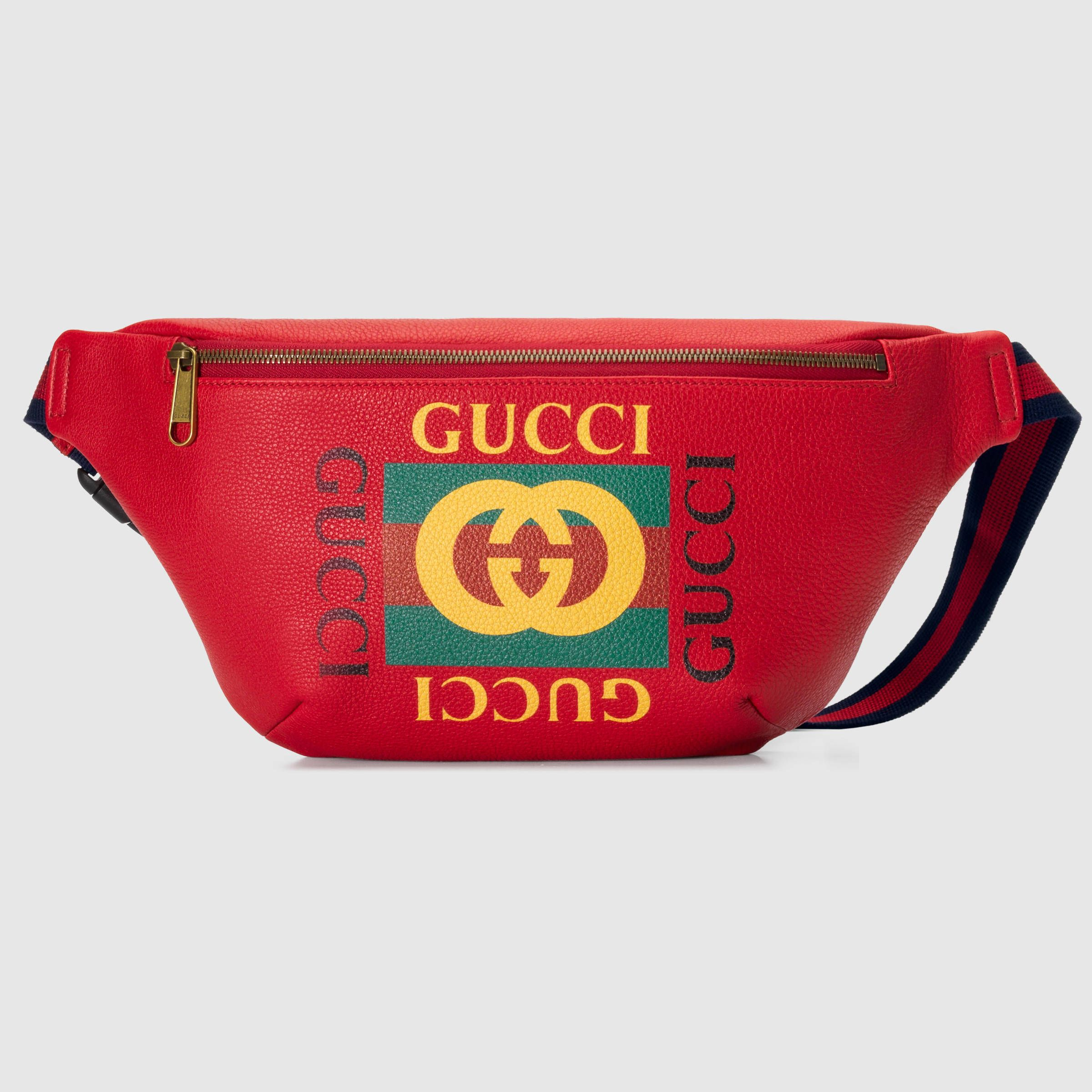 dfbd5f0ce50 Gucci Print leather belt bag in 2019 | Ideas , Izzy's folder ...
