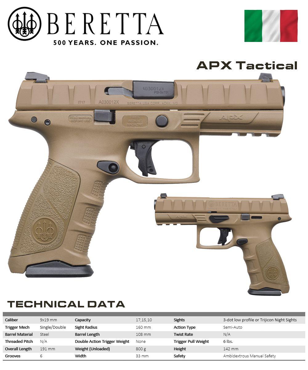 Beretta - APX Tactical   Outdoor   Hand guns, Military guns, Guns