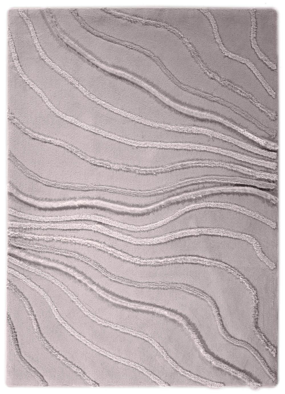 MERCER Rug By STEPEVI Vedia Lines Trim Color Silver