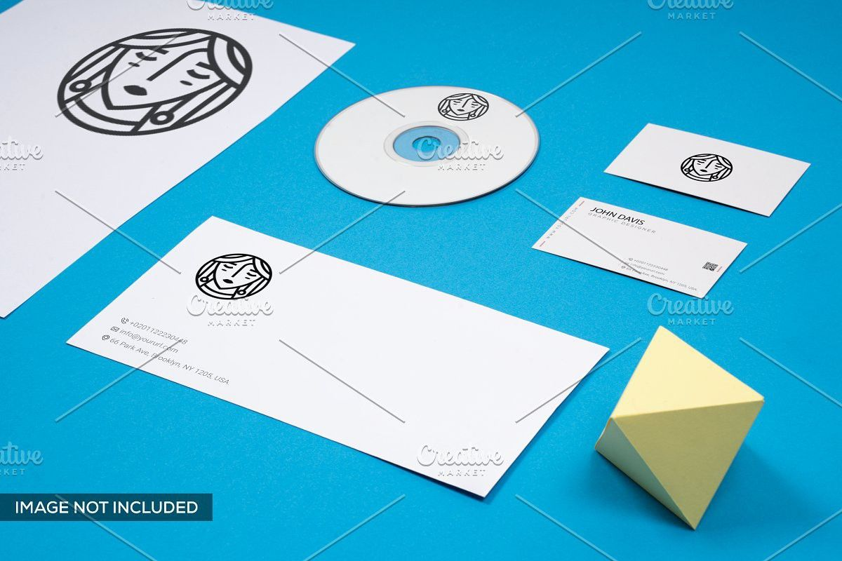 Branding In Blue Mockup 4 Branding Mockups Logo Mockup Branding