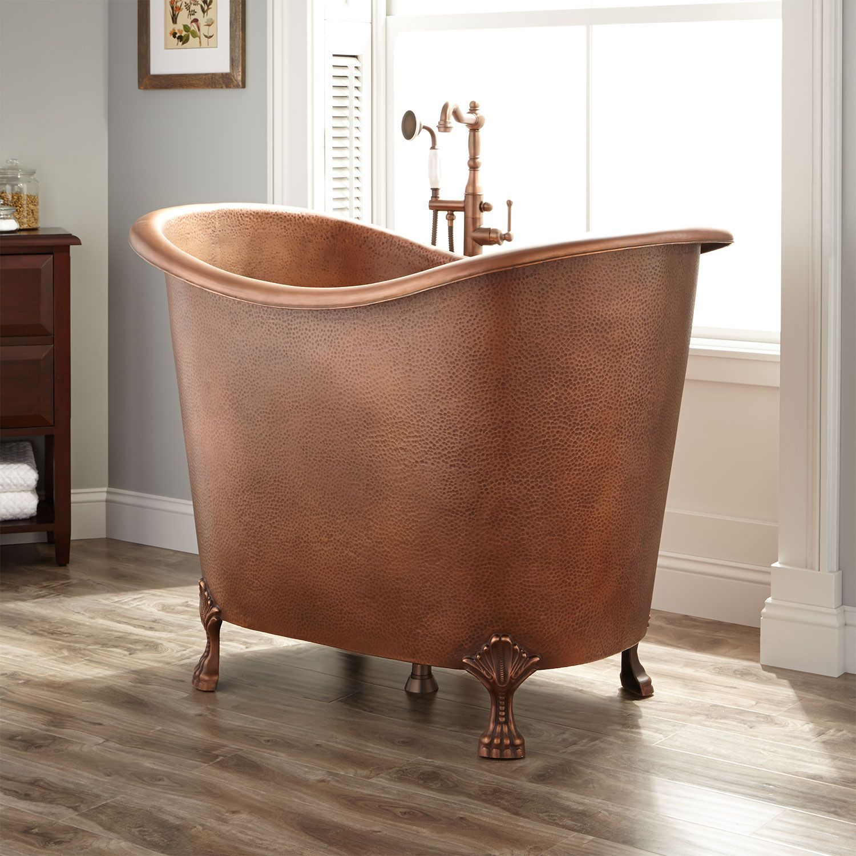 48 Abbey Copper Double Slipper Clawfoot Soaking Tub Copper Tub