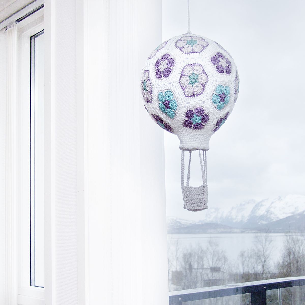 Crochet African Flower Hot Air Balloon | luftballon | Pinterest ...