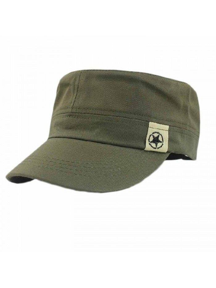 Fashion Unisex Flat Roof Military Hat Cadet Patrol Bush Hat Baseball Field  Cap Army Green - CO183MQ4E5O in 2019  89a424f4182
