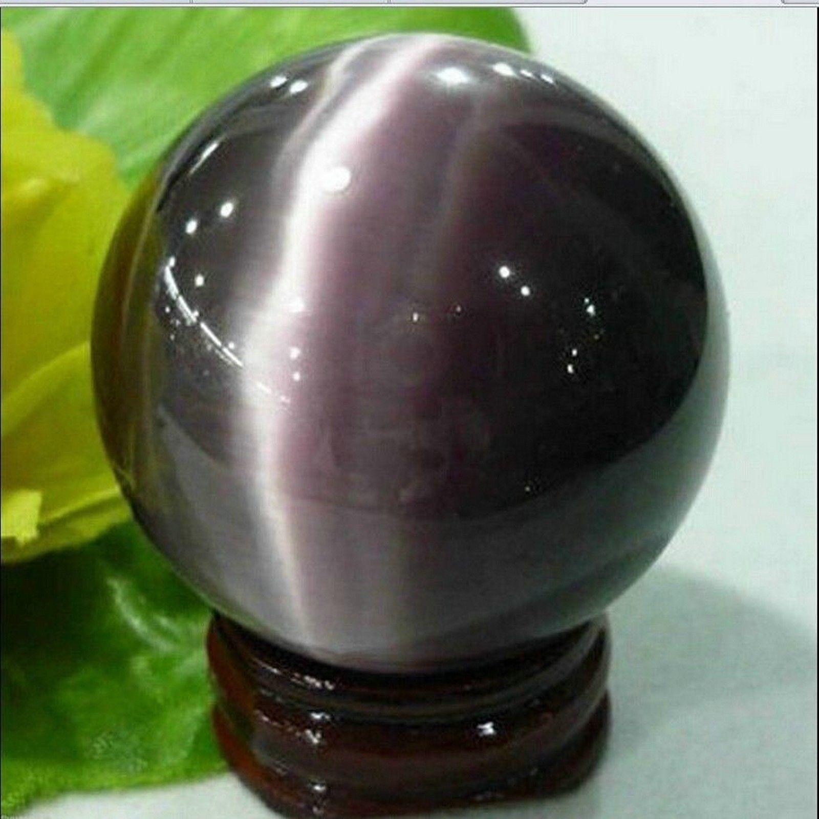 $2 88 - Asian Quartz Cat Eye Crystal Ball Sphere 38-40Mm +
