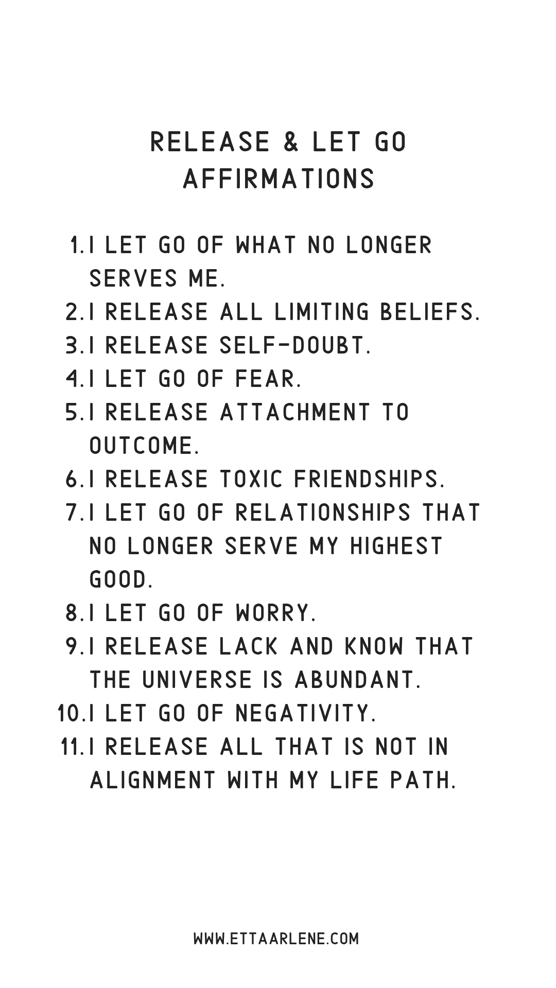 Release & Let Go