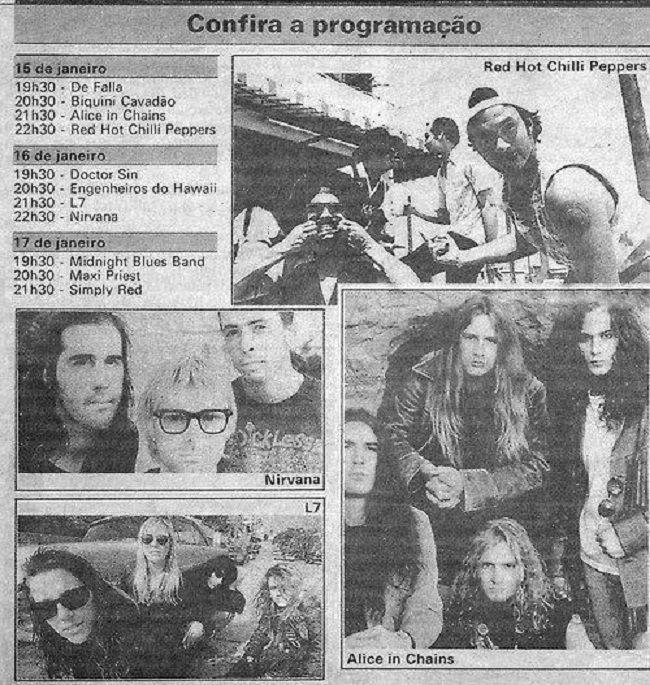 Hollywood Rock Festival Schedule Rio 1993 Hollywood Rock Rock