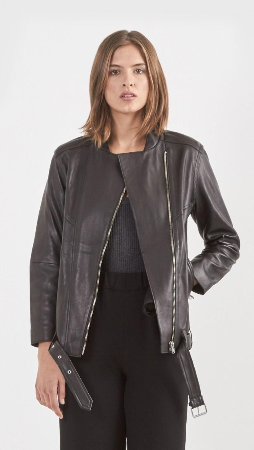 Iro Ametyst Leather Jacket In Black Leather Jacket Jackets Leather [ 1462 x 825 Pixel ]