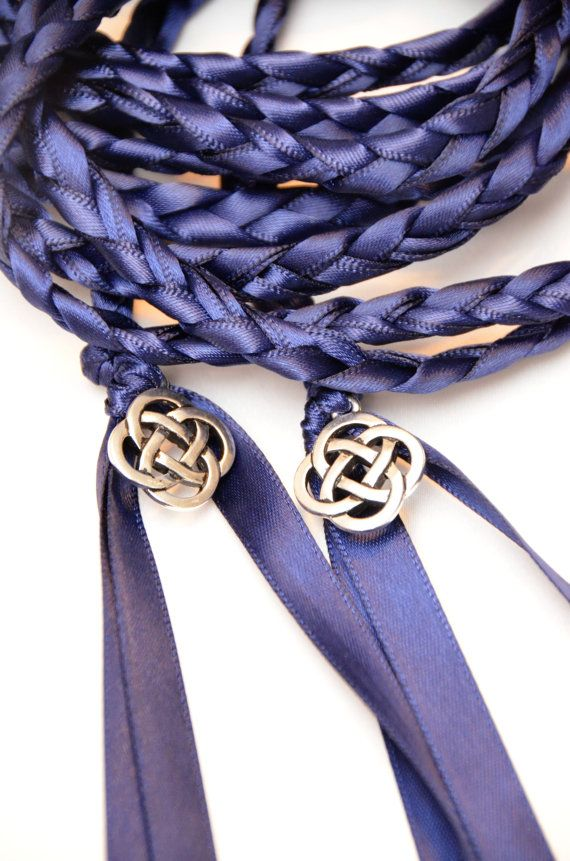 Celtic Knot Wedding Handfasting Cord V2 Navy Handfastingcord Celticknot Weddingceremony Handfastingvows