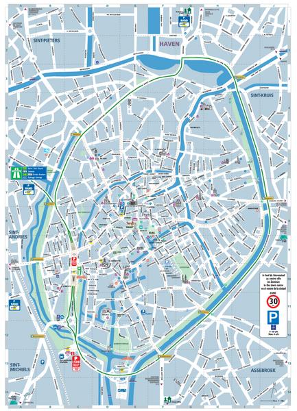 bruges belgium attractions brugge tourist map brugge belgium mappery