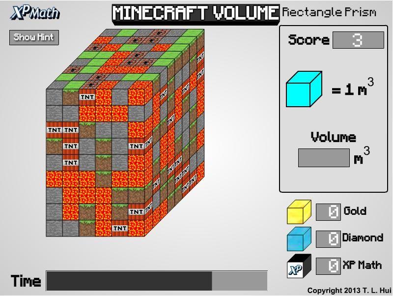 Minecraft Volume Rectangular Prism Math Classroom Homeschool Minecraft Teacher Lesson Plans