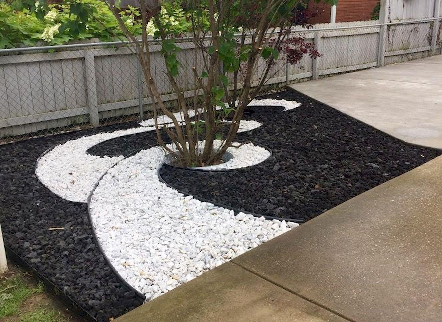 75 Front Yard Rock GardenLandscaping Ideas - Structhome.com #yardlandscaping