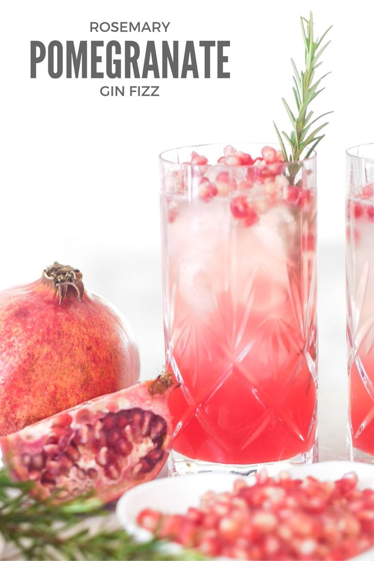 Photo of Pomegranate and Rosemary Gin Fizz