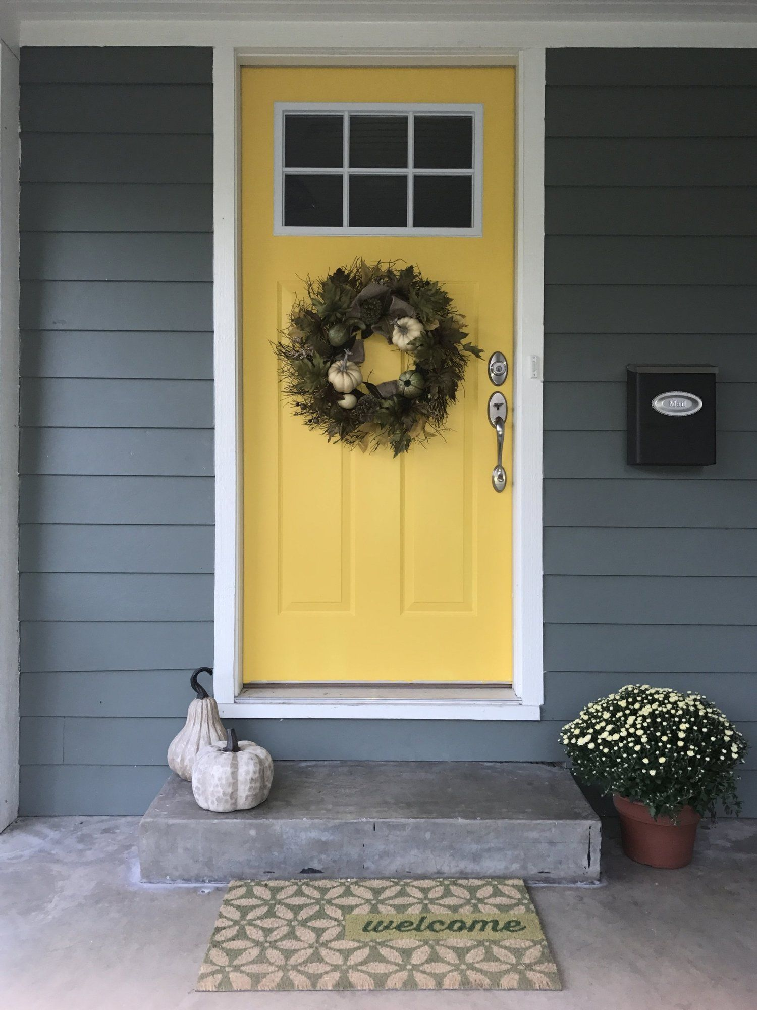 Curb Appeal Blessed Little Bungalow Painted Front Doors Bright Front Doors Front Door Paint Colors