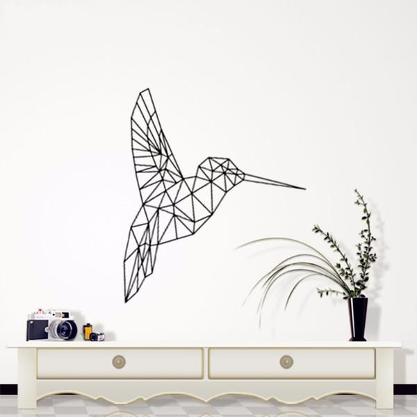 nov/11 24-hour sale | removable wall sticker | geometric hummingbird