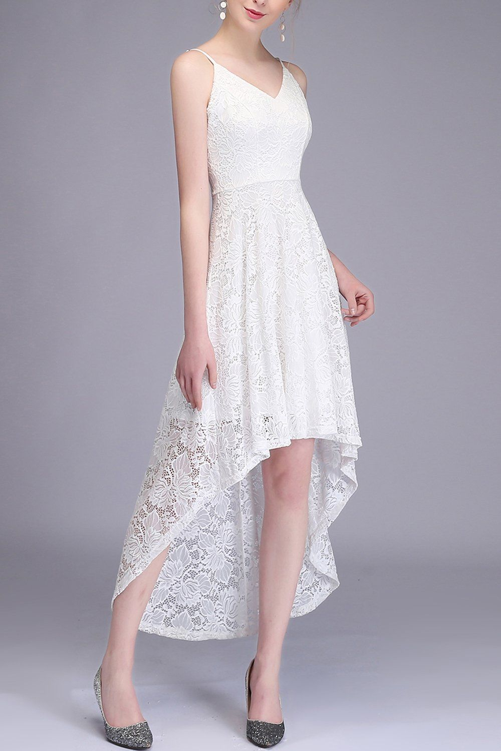 High Low Lace White Dress High Low Lace Dress Lace Homecoming Dresses Dresses [ 1500 x 1000 Pixel ]