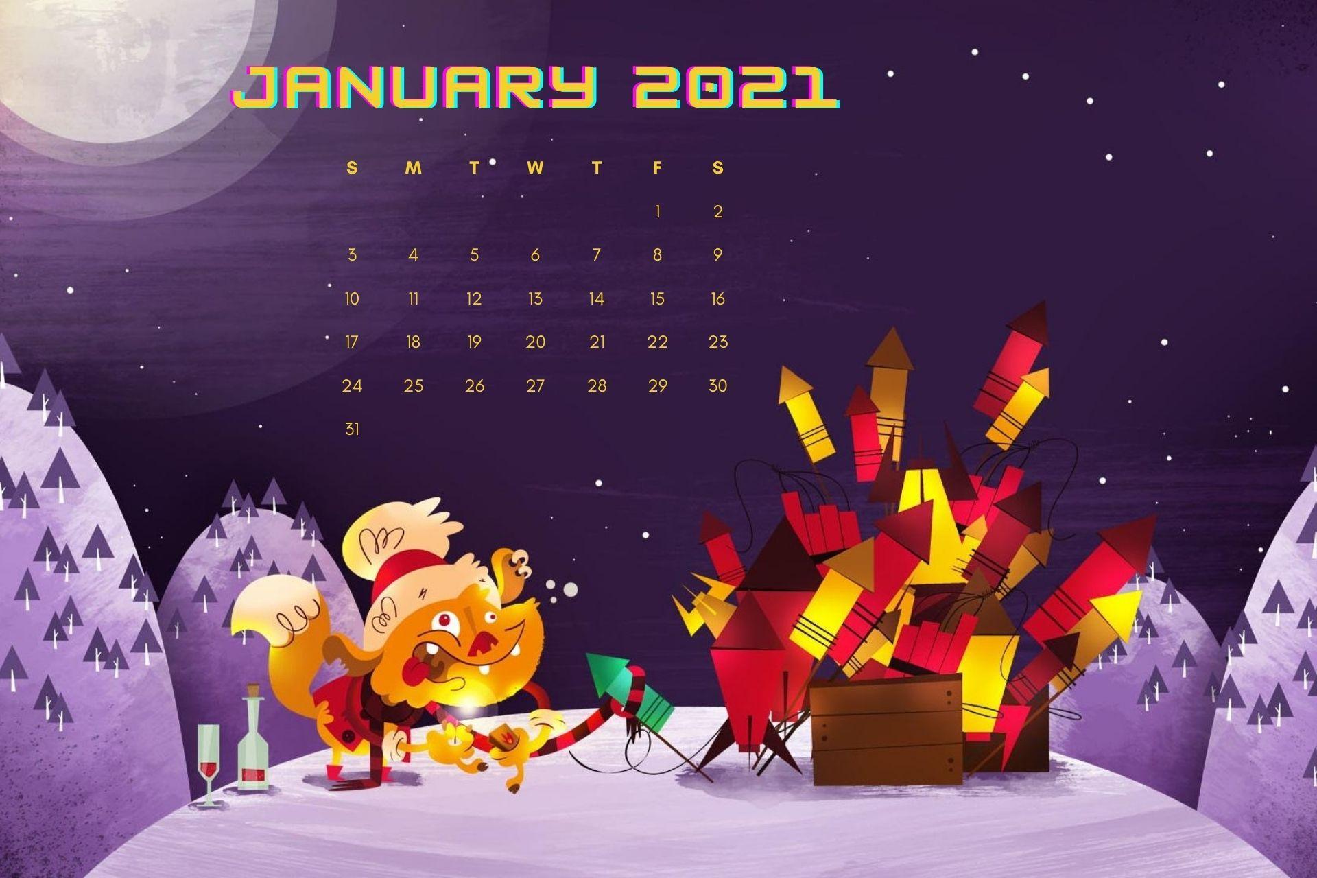 Beautiful January 2021 Calendar Wallpaper For Desktop Calendar Wallpaper Desktop Calendar Free Printable Calendar Templates