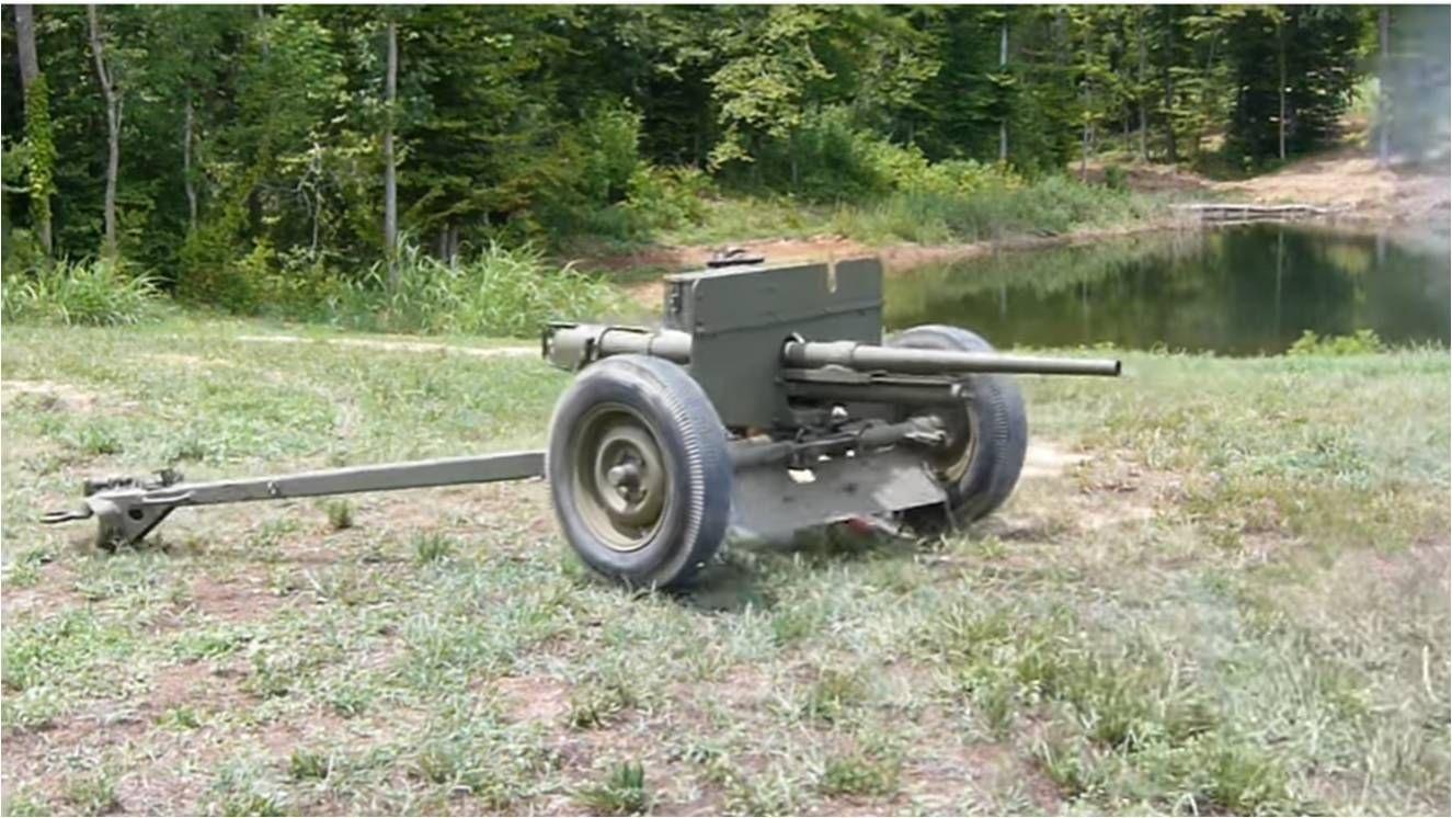 German 50 Mm Anti Tank Gun: Original US 37mm M3 Anti-Tank Gun Live Fire