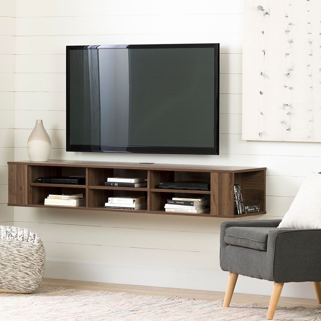 Meuble Tele Wall Mount Tv Stand Wall Mounted Media Console Floating Tv Stand
