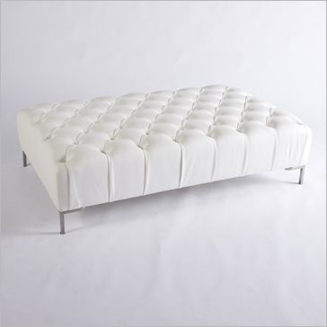 Fabulous Tufted Collection White Leather Tufted Ottoman Collection Beatyapartments Chair Design Images Beatyapartmentscom