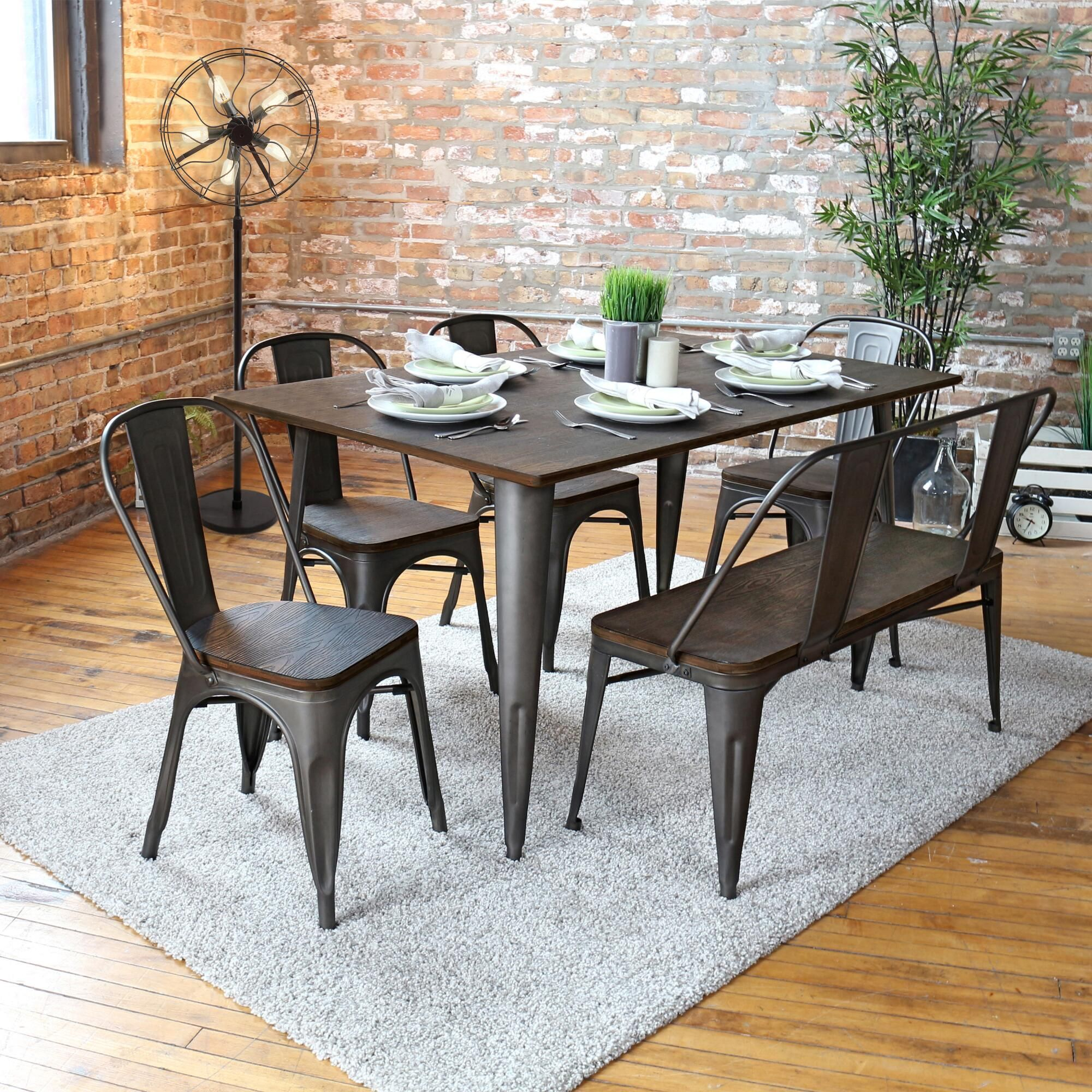 The Cool Industrial Styling Of Our Dining Collection Is Warmed Up With Beautiful Bamboo Details In A Ri With Images Dining Table Metal Dining Table Dining Table In Kitchen