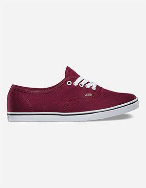 dd763d97c8ea86 VANS Authentic Lo Pro Womens Shoes Burgundy