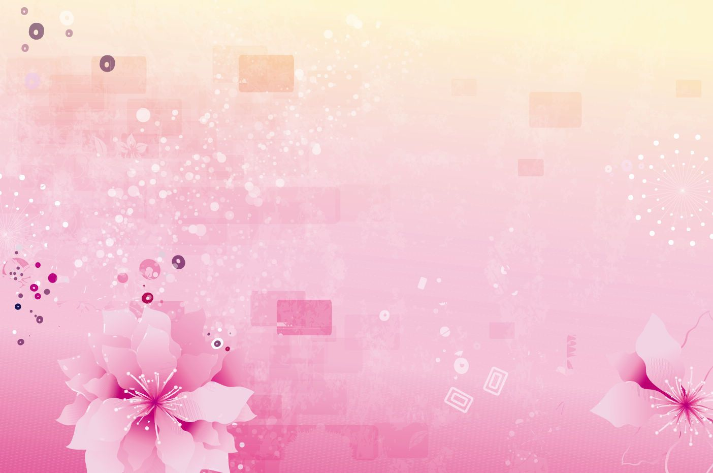 Pink Floral Abstract Pink Flowers Background Free Vector