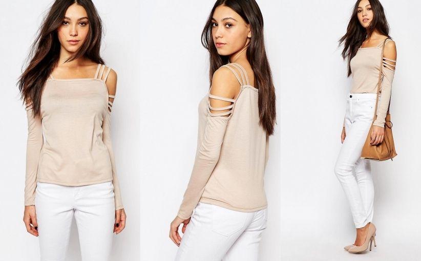 33496ss Daisy Street Bluzka Cold Shoulder Beige 36 7163614132 Oficjalne Archiwum Allegro Clothes Cold Shoulder Beige
