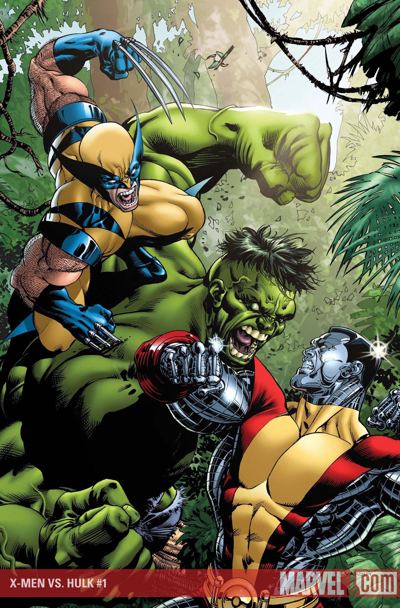 Hulk Vs My Favorite 5 Colossus Wolverine Help Yeah He Needs The X Men Team To Fight The Hulk Or He Ll Get His A Hulk Comic Hulk Marvel Superhero Comic