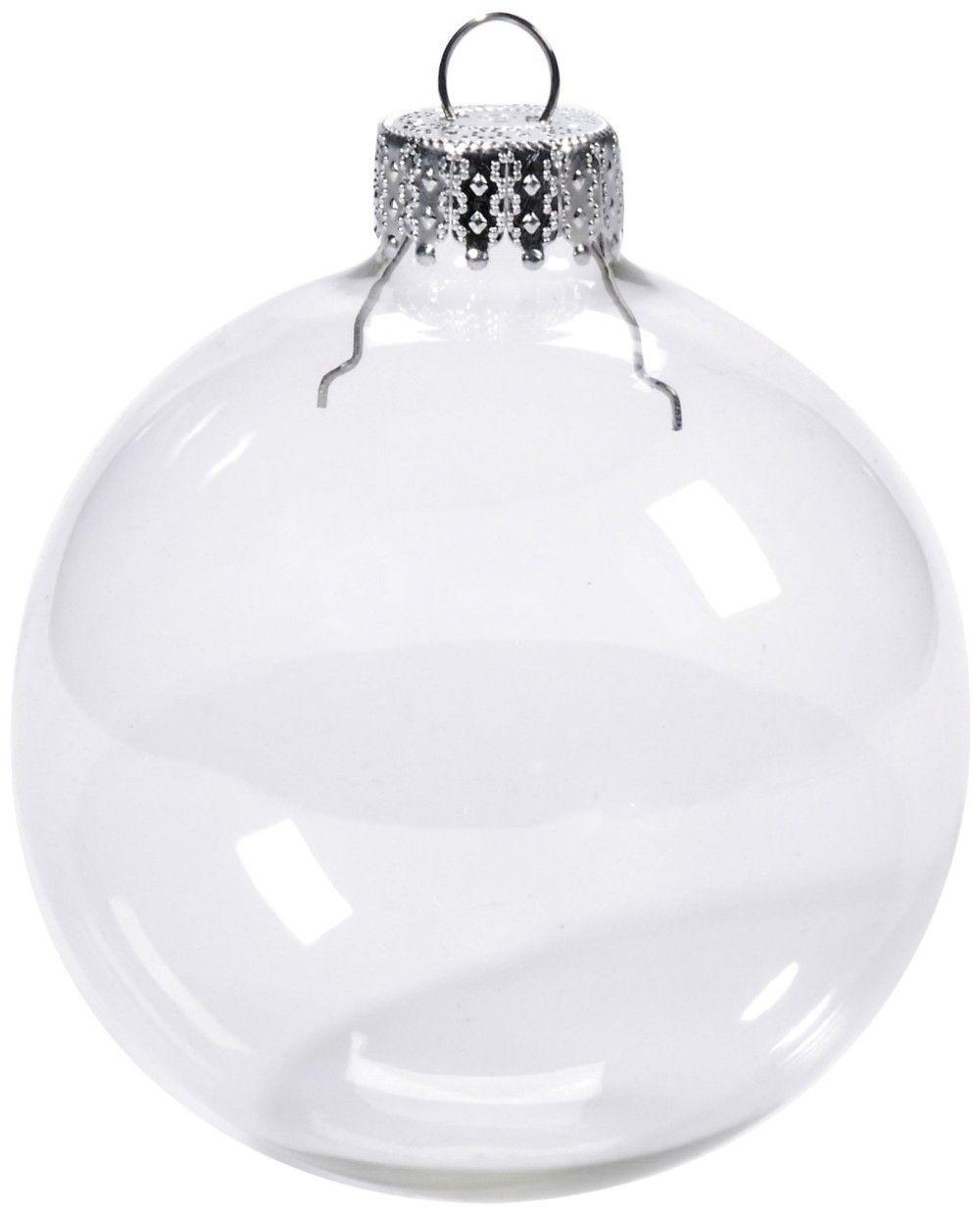Bolas De Navidad Transparente Con Capuchon Bolas De Navidad