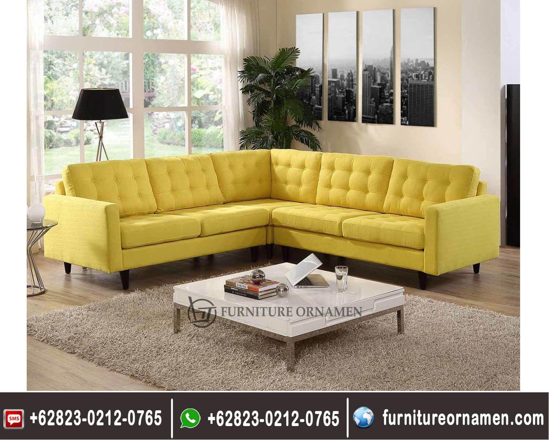 Sofa Sudut Minimalis Mewah Modern FO 0101 Modern