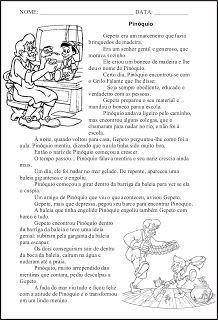 Pinoquio Com Imagens Atividades De Conto De Fadas Atividades