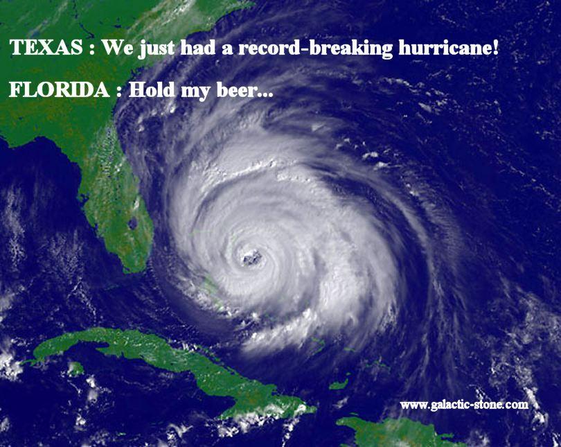 Texas hurricane Harvey and Florida hurricane Irma HOLD