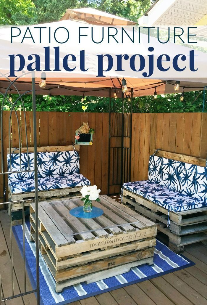 Decorating Your Patio Is Not A Cheap Task! But You Can Make Your Own Patio  Furniture Out Of Wood Pallets And Create Your Own Pallet Project  Masterpiece ...