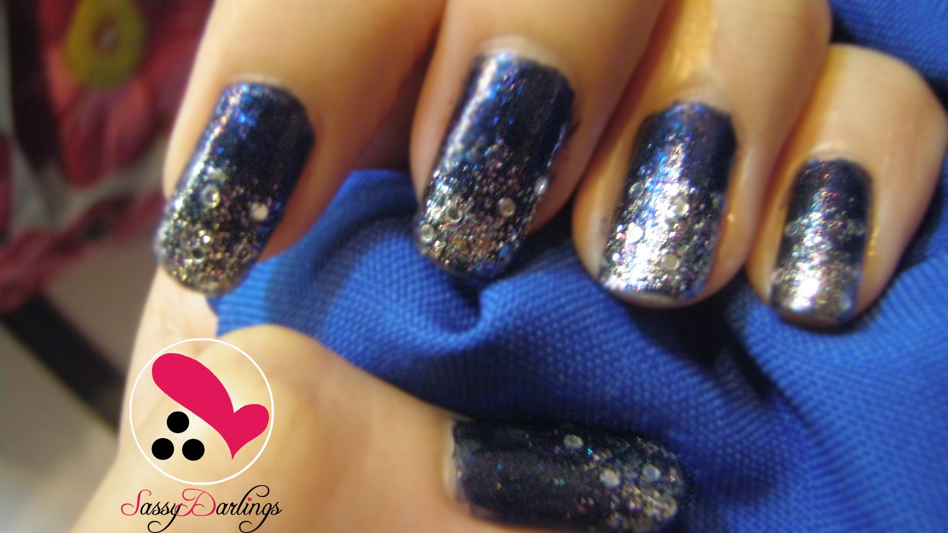 Manicure Designs For Prom Royal Blue Royal Nail Art Blue 3d Nails