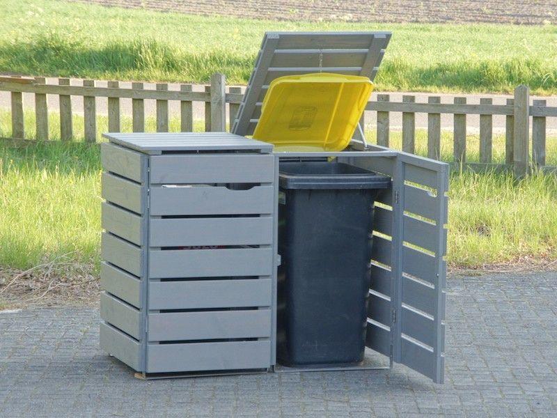 2er Mülltonnenbox Holz 120 Liter in 2020 Mülltonnenbox