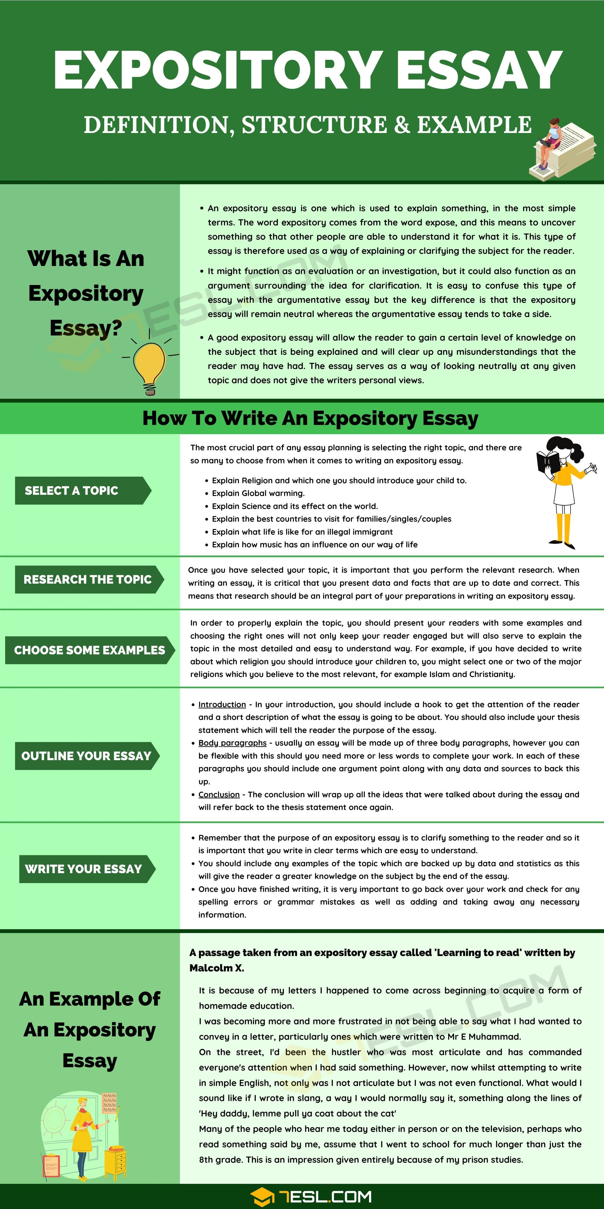 Expository Essay Definition Outline Topics Examples Of Expository Essays 7esl Expository Essay Expository Essay Examples Essay Writing Skills